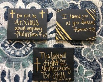 Set of Three Bible Verses Canvas