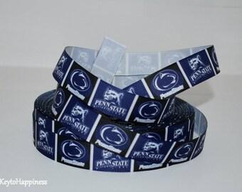 """Penn State 7/8"""" Grosgrain Ribbon 167B"""