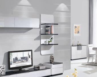Presta White Gloss 3 Tier Wall Shelf