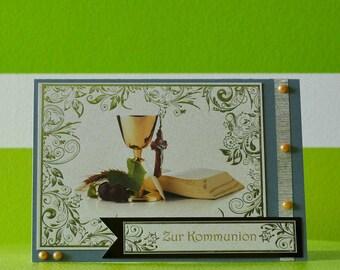 Greeting card - communion - sacrament