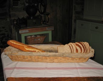A Very Nice Original  Vintage French Bread Baguette Proving Basket  Farmhouse Kitchen / Country Kitchen