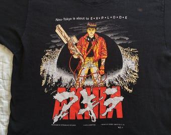 1992 AKIRA Neon Tokyo Japan Anime Manga Movie Punk Comic-Con T-Shirt Ghost Shell