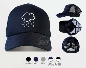Rain clouds Trucker Hats  Rain cloud Cap