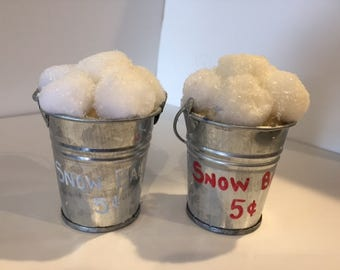Bucket of Snowballs Ornament