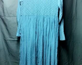 Blue/Green Long Western Dress