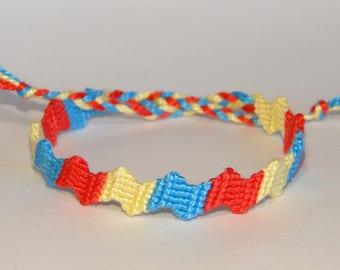 Friendship Bracelets - handwoven - macramé - zigzag - ethnic - ibiza - beach - brésilien - armcandy