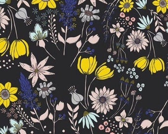 SALE: Fitted Crib Sheet Floral in Midnight
