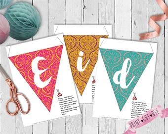 DIY Eid decorations, Digital Eid decorations, Printable Eid decorations, Eid decorations, Eid printable, Eid party decorations, Eid gift DIY