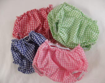 Patch gingham teddy bloomers