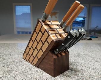 Maple Brick Knife Block