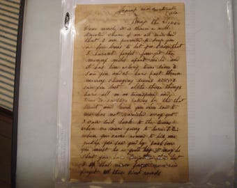 Civil War Confederate Letter - 31st Mississippi Infantry - Andrew Jackson Knight - Letter reveals he is a very religious man