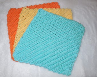 crocheted dishcloth ~ cotton dishcloth ~ dish cloth ~ wash cloth