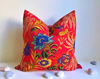 Modern pillow cover for couch, floral cushion cover, colourful pillow case, decorative throw pillow, spring decor, outdoor pillow