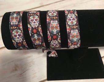 Sugar skull hair tie