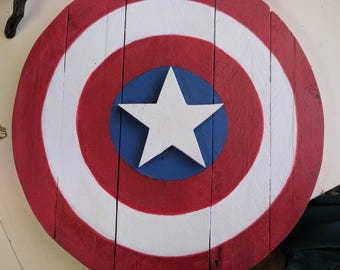 Captain America Shield Pallet Sign