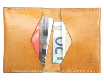 Slim Leather Wallet - Natural
