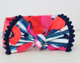 Knot Baby Headband - Newborn Headband - Baby headband - Baby Girl Headband - Preemie Headband - Baby Bows - Floral Headband