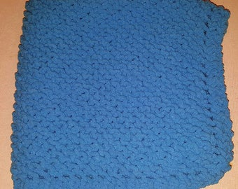 Busy Blue Baby Blanket