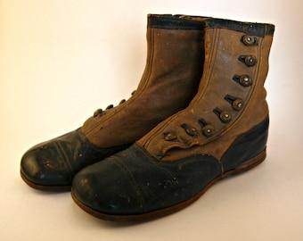Pair of Circa 1910 Children's Shoes