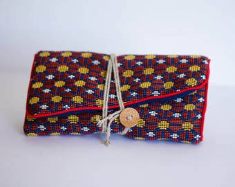 "Jewelry pouch travel blue ""Andy"""