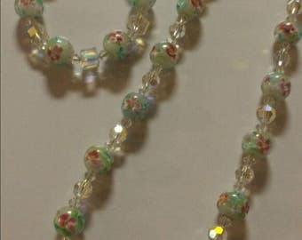 Gorgeous handmade  set, made with all swarovski crystals.