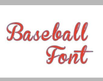 Baseball Monogram Alphabet font SVG DXF Cut Files Instant Download