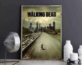 Walking Dead Art Walking Dead Decor Walking Dead Poster Walking Dead Photo Walking Dead Print Zombie Apocalypse Rick Grimes Horror Drama