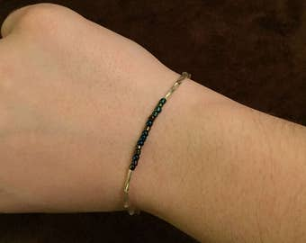 Glass seed bead bracelet