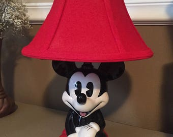 Mickey Mouse Porcelain Lamp