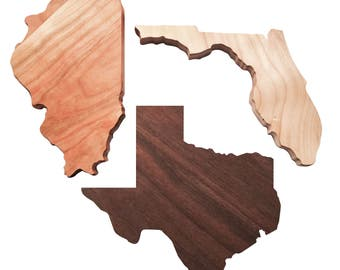 State Shaped Wood Cutting Boards... Maple/Walnut/Cherry Cutting Boards