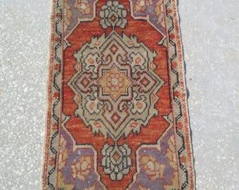 "Rugs,Oushak Rug, Vintage Rug, Turkish Rug, Home Living Rug, Oushak Rugs, Rug Carpet, Anatolian Rug,Turkish Rugs,2'9"" X 1'5""feet/90x50cm,Rugs"