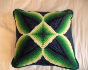 Retro Green Geometric pillow