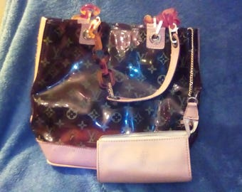 Louis Vuitton vintage purse with attached make-up bag