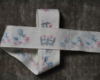 Vintage/antiques pattern Ribbon ducks 1970 s