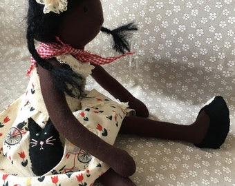 handmade doll, keepsake doll, doll, art doll, natural fiber doll, thumbelina, thumbelina doll