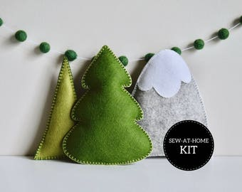 Trees & Mountain Softie Collection | Sew-at-Home Kit