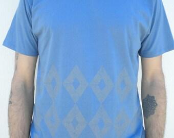 100% Organic cotton linocut Tshirt man