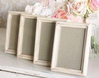 Rustic Wedding Frames Shabby Wedding Decor SET of 4 Pick the Size (item P10039)