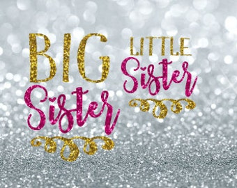 big sister little sister svg | sisters svg | matching svg | big sis svg | little sis svg | siblings svg | matching sisters svg | svg files
