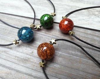Galaxy Planet Necklace