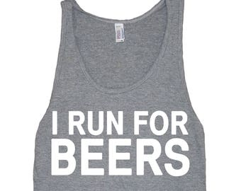 I Run For Beers Men's American Apparel Tank Top