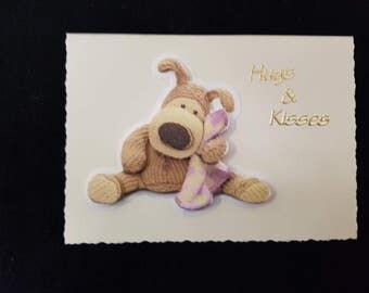 Handmade Boofle Decoupage Greeting Card