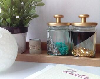 ENYA Pair of Glass Jars