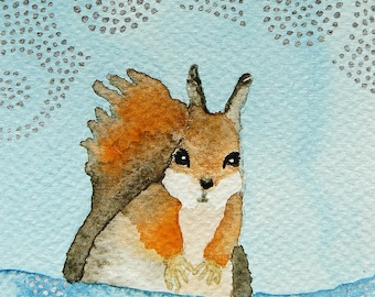 The squirrel, card