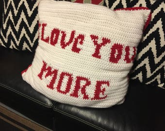 Hand crocheted large pillow