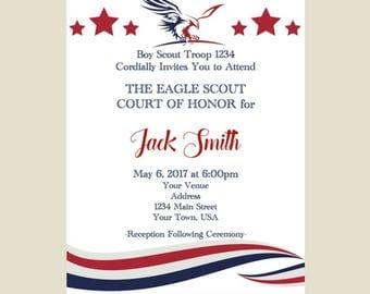 Eagle Scout Court of Honor Invitation - Digital File
