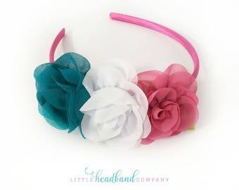 Colorful Headband • Flower headband • baby headband • hair accessories for girls • flower girl • baby accessories • adult headband • gifts