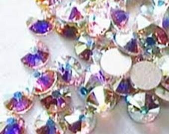Swarovski crystals flat back stones gems rhinestones non hotfix 500 piece crystal ab clear ss 1.3mm