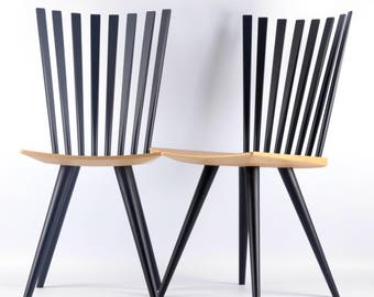 Modern Danish Johannes Foersom & Peter Hiort Lorenzen Mikado chairs (2pcs)