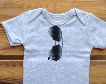 Aviator onesie - sunglasses onesie - baby boy - onesie